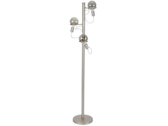 DONYA Stehlampe, 3 Leuchten, Material Metall, Edelstahloptik  DETAIL_IMAGE