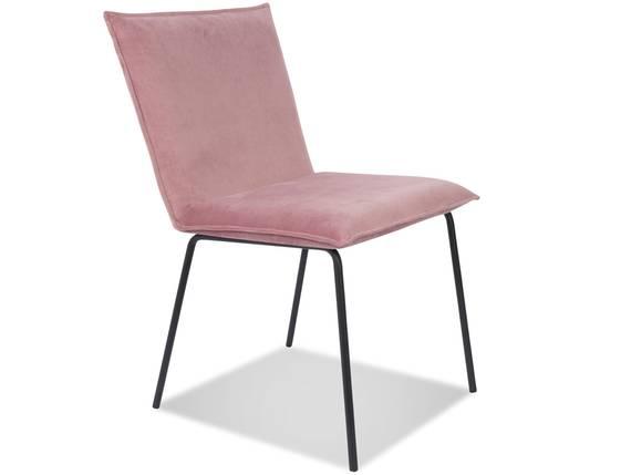 FEDDY Esstischstuhl, Material Stoff Samt/Gestell Metall schwarz rosa DETAIL_IMAGE
