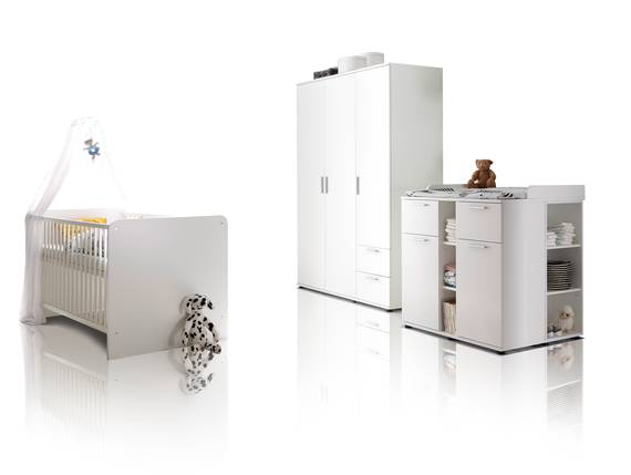 BAMBINO Babyzimmer 3tlg, Material Dekorspanplatte, weiss  DETAIL_IMAGE