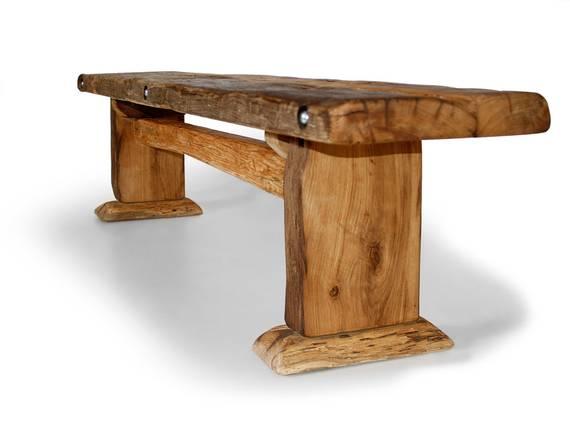 WIKINGER Sitzbank / Massivholzsitzbank ohne Rückenlehne 200 cm | unbehandelt DETAIL_IMAGE