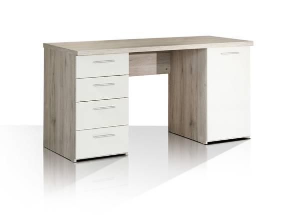 BEAT Schreibtisch, Material Dekorspanplatte, sandeichefarbig/weiss  DETAIL_IMAGE