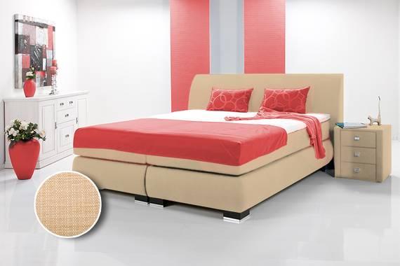 luxus boxspringbett inkl kopfteil doppelbett einzelbett 200 x 200 beige h rtegrad 3. Black Bedroom Furniture Sets. Home Design Ideas