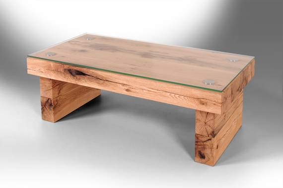 BELLI Couchtisch, Material Massivholz, Sumpfeiche 120 cm | gerade DETAIL_IMAGE