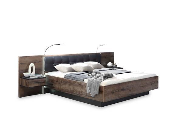 ERLIN Bettanlage, Material Dekorspanplatte, schlammeichefarbig 160 x 200 cm DETAIL_IMAGE