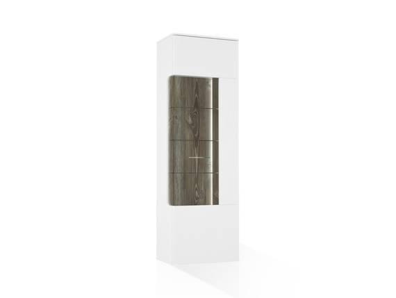 BELMIRA Vitrine R breit, Material Dekorspanplatte, weiss/Picea kieferfarbig  DETAIL_IMAGE