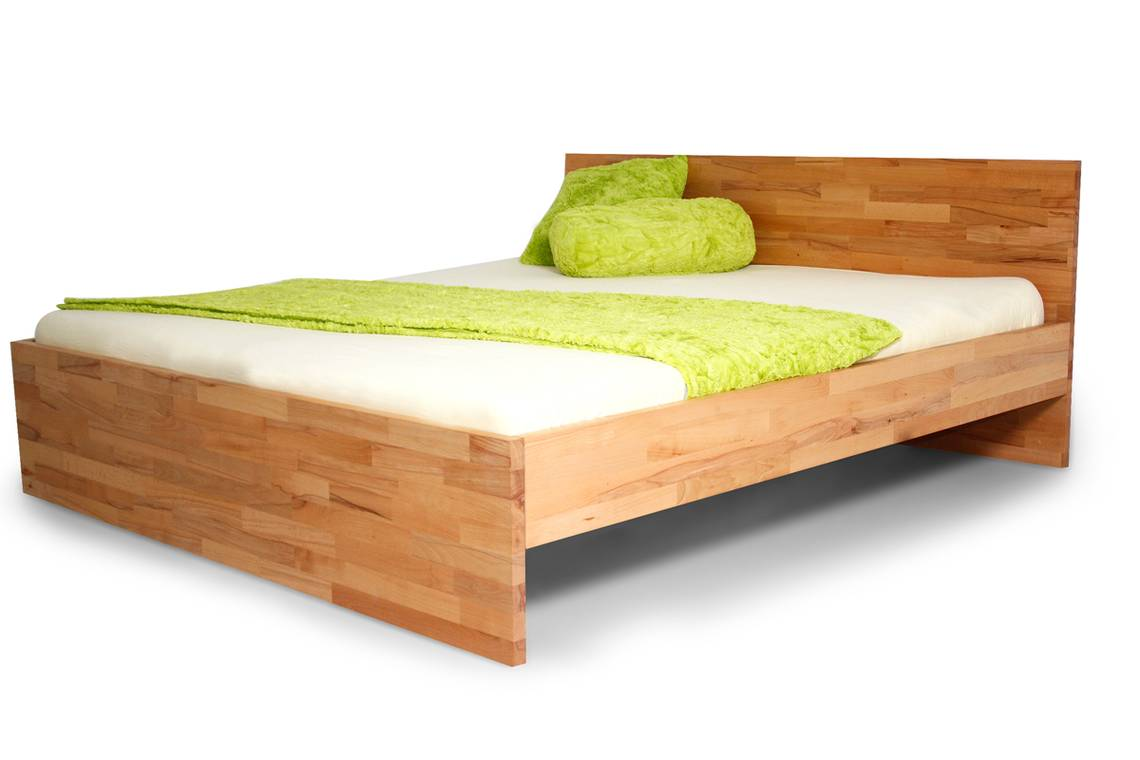 rosina massivholzbett einzelbett doppelbett 160 x 220 eiche unbehandelt. Black Bedroom Furniture Sets. Home Design Ideas