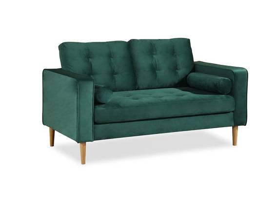GLAMMY 2-Sitzer Sofa mit Samtbezug, Füße Buche massiv smaragdgrün DETAIL_IMAGE