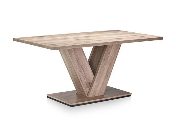 BANGKOK Esstisch / Säulenesstisch, Material Dekorspanplatte 160 x 90 cm | eichefarbig DETAIL_IMAGE
