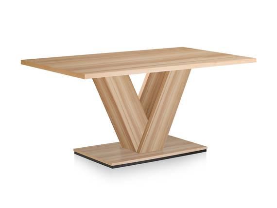BANGKOK Esstisch / Säulenesstisch, Material Dekorspanplatte 130 x 85 cm | kernbuchefarbig DETAIL_IMAGE