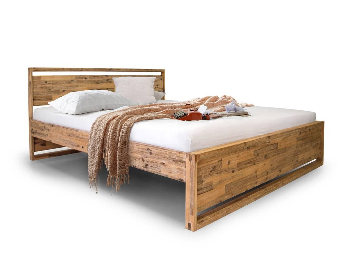 bonnie komfortbett 180x200 cm akazie brushed. Black Bedroom Furniture Sets. Home Design Ideas