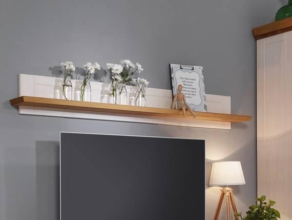 bornholm wandboard kiefer wei eichefarbig. Black Bedroom Furniture Sets. Home Design Ideas