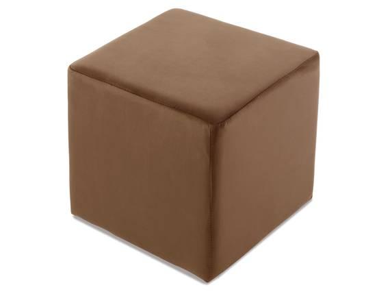 POUFI CUBE Sitzwürfel / Hocker, Material Stoff, Bezug Samt braun | 35x40x35 cm DETAIL_IMAGE