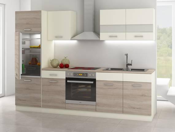 CALINA Küchenblock, Material Dekorspanplatte Eiche Sonoma trüffelfarbig/creme  DETAIL_IMAGE