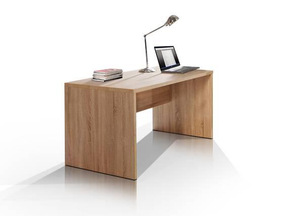 CAMILLO Schreibtisch 140 cm breit, Material Dekorspanplatte, Eiche sonomafarbig  DETAIL_IMAGE
