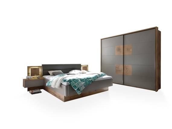 CAMERON I Schlafzimmer inkl. Nakos, Material Dekorspanplatte wildeichefarbig/basaltgrau DETAIL_IMAGE