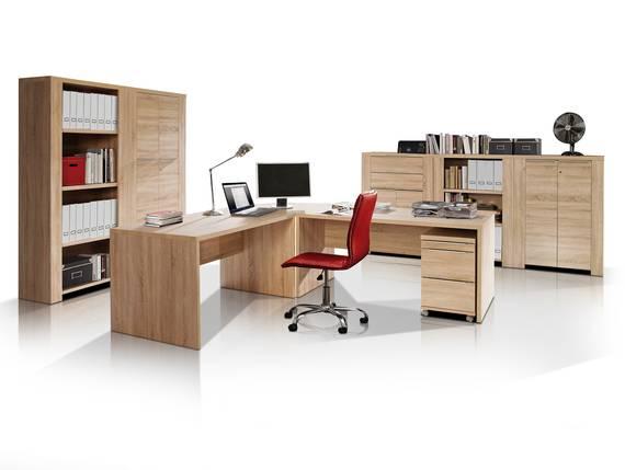 CAMILLO II Komplett-Büro, Material Dekorspanplatte, Eiche sonomafarbig  DETAIL_IMAGE
