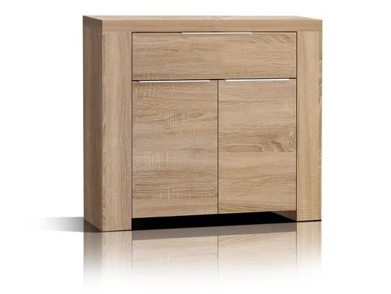 CAMILLO Kommode 2 Türen und 1 Schubkasten, Material Dekorspanplatte, Eiche sonomafarbig  DETAIL_IMAGE