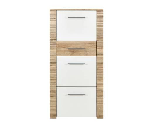 CANDRA Schuhschrank 3 Klappen, Material Dekorspanplatte, Eiche sanremofarbig/weiss  DETAIL_IMAGE