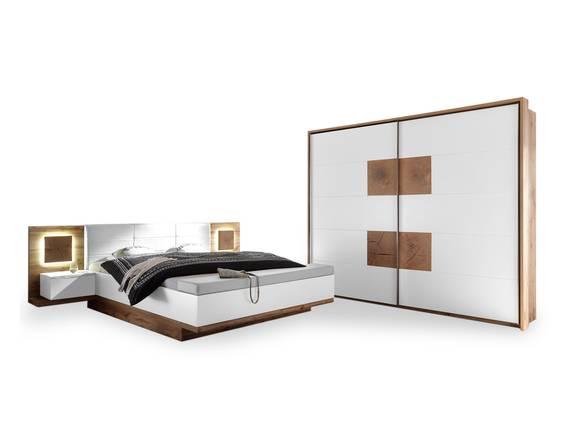 CAMERON II Schlafzimmer mit Betttruhe, Material Dekorspanplatte wildeichefarbig/weiss DETAIL_IMAGE