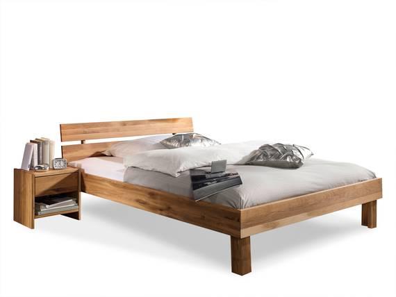 CARIA Doppelbett/Massivholzbett 100 x 200 | Wildeiche DETAIL_IMAGE