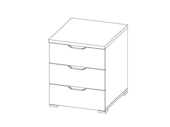 CASSIAN Schubkastencontainer 3 Schübe, Material Dekorspanplatte, Eiche sonomafarbig  DETAIL_IMAGE