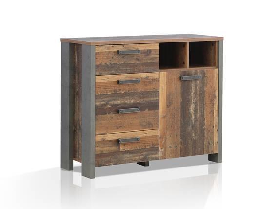 CASSIA Kommode I, Material Dekorspanplatte, Old Wood Vintage/betonfarbig  DETAIL_IMAGE