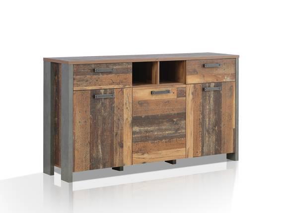CASSIA Sideboard I, Material Dekorspanplatte, Old Wood Vintage/betonfarbig  DETAIL_IMAGE
