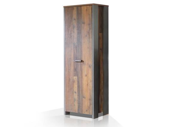CASSIA Garderobenschrank mit 1 Tür, Material Dekorspanplatte, Old Wood Vintage/betonfarbig  DETAIL_IMAGE