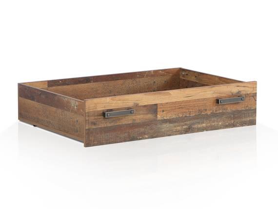 CASSIA Bettschubkasten für Bett 140x200 cm, Material Dekorspanplatte, Old Wood Vintage  DETAIL_IMAGE