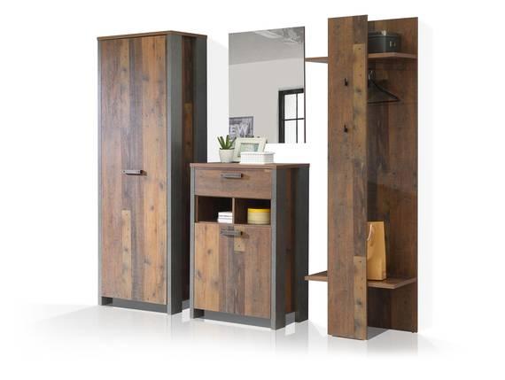 CASSIA Garderobe, Material Dekorspanplatte, Old Wood Vintage/betonfarbig  DETAIL_IMAGE