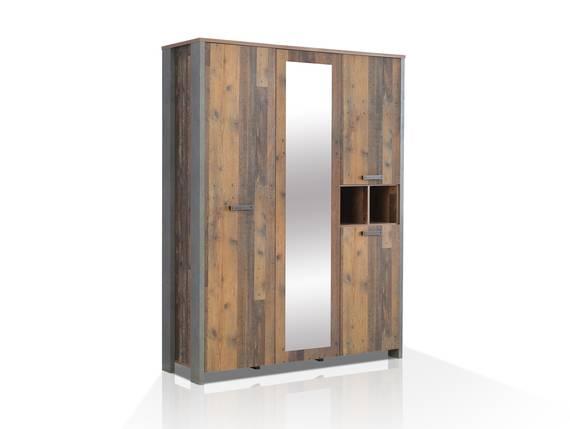 CASSIA Kleiderschrank 3-trg, Material Dekorspanplatte, Old Wood Vintage/betonfarbig  DETAIL_IMAGE
