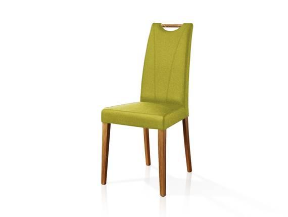 CASSY II Polsterstuhl, Material Stoff/Massivholz grün DETAIL_IMAGE