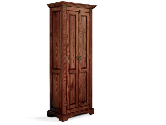 CESI Kleiderschrank 2türig, Material Massivholz, Pinie braun lackiert  DETAIL_IMAGE