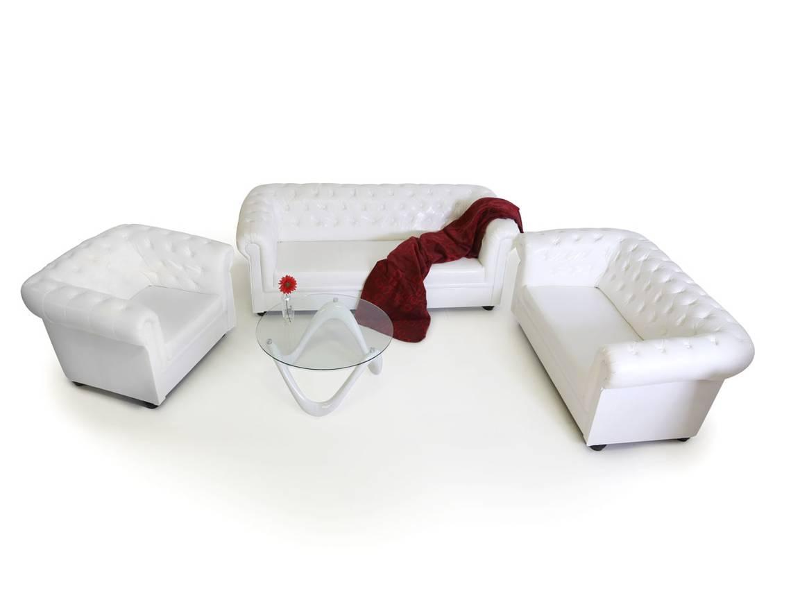 chesterfield 3 2 1 sofagarnitur weiss. Black Bedroom Furniture Sets. Home Design Ideas