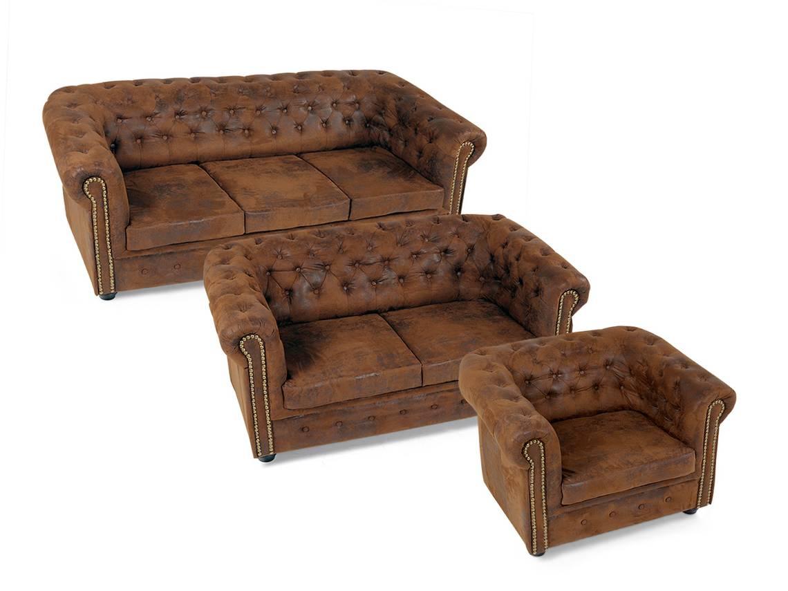 chesterfield 3 2 1 sofagarnitur gobi braun. Black Bedroom Furniture Sets. Home Design Ideas