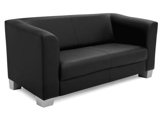CHICAGO 2-Sitzer Sofa, Material Kunstleder schwarz DETAIL_IMAGE