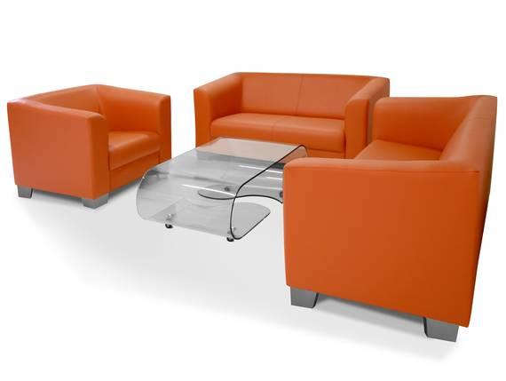 CHICAGO 3-2-1 Sofagarnitur, Material Kunstleder orange DETAIL_IMAGE
