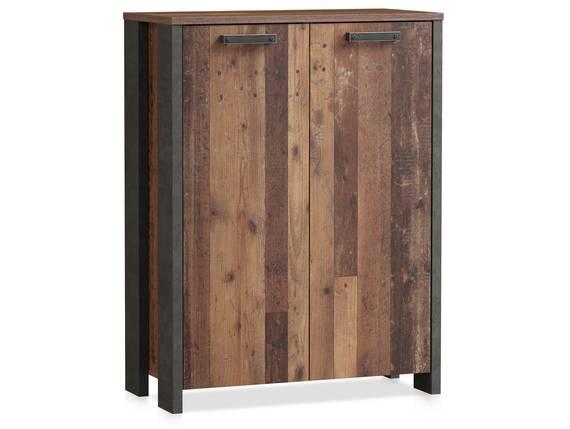 CASSIA Kommode 2 Türen, Material Dekorspanplatte, Old Wood Vintage/betonfarbig  DETAIL_IMAGE