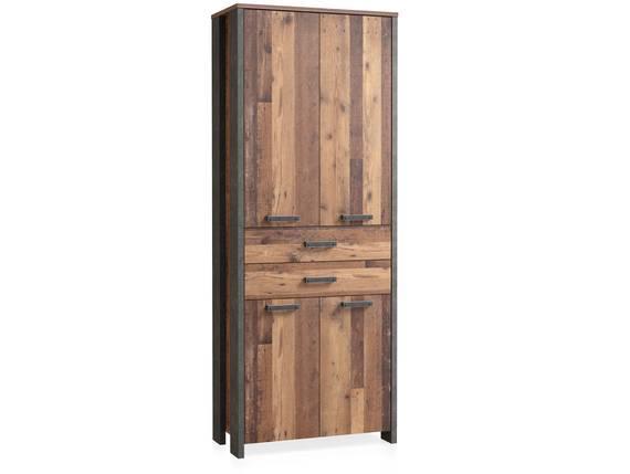 CASSIA Büroschrank 4 Türen + 2 Schubkästen, Material Dekorspanplatte, Old Wood Vintage/betonfarbig  DETAIL_IMAGE