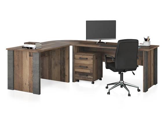 CASSIA Winkelkombination, Material Dekorspanplatte, Old Wood Vintage/betonfarbig  DETAIL_IMAGE