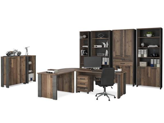 CASSIA Komplettbüro, Material Dekorspanplatte, Old Wood Vintage/betonfarbig  DETAIL_IMAGE