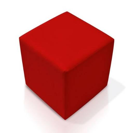 KUBUS Bequemer Sitzwürfel Kunstleder 35x40x35 cm Bandscheibenwürfel rot DETAIL_IMAGE