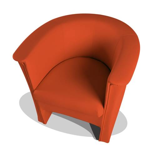 COCKY Kunstleder Sessel Clubsessel, Material Kunstleder orange DETAIL_IMAGE