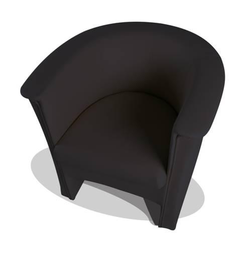 COCKY Kunstleder Sessel Clubsessel, Material Kunstleder schwarz DETAIL_IMAGE