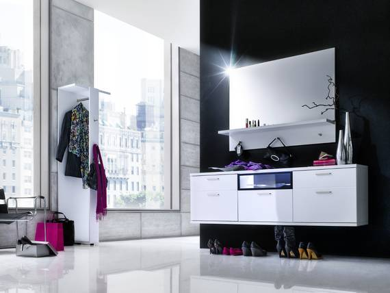 cora garderobenkombi iii weiss hochglanz weiss. Black Bedroom Furniture Sets. Home Design Ideas