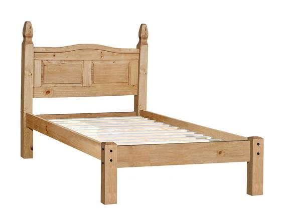 COLMAN Doppelbett / Einzelbett, Material Massivholz, Kiefer honig gewachst 140 x 200 cm DETAIL_IMAGE