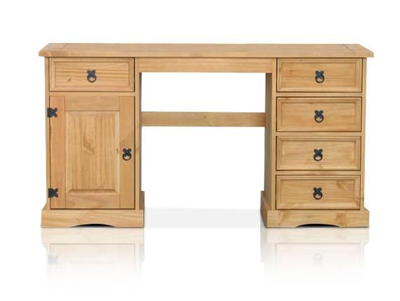 COLMAN Schreibtisch, Material Massivholz, Kiefer honig gewachst  DETAIL_IMAGE