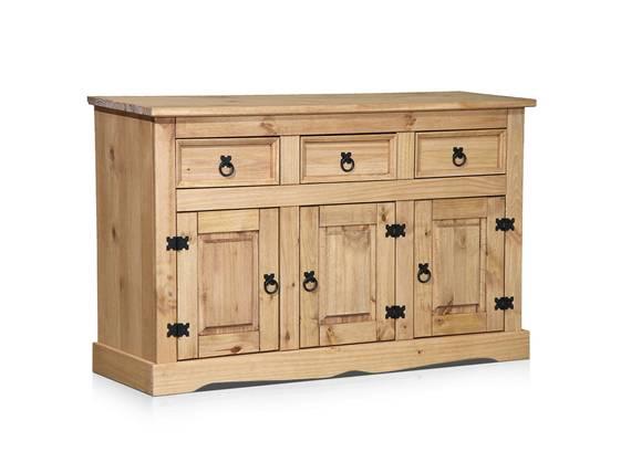 COLMAN Sideboard I, Material Massivholz, Kiefer honig gewachst  DETAIL_IMAGE