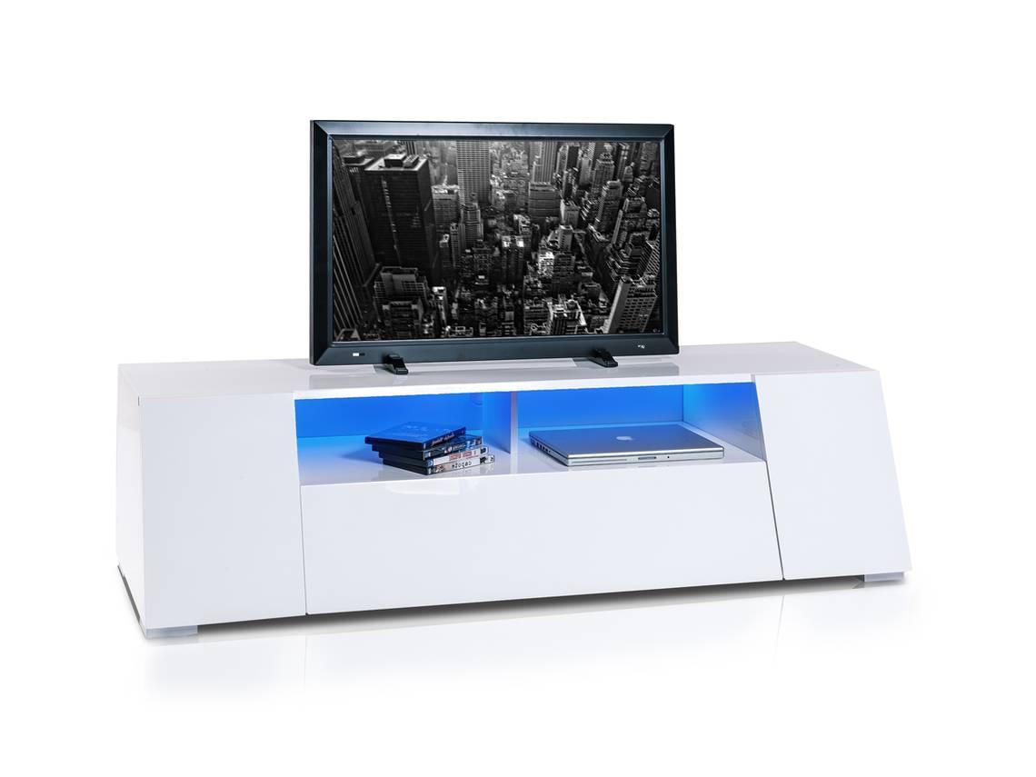 dallas tv rack wei hochglanz. Black Bedroom Furniture Sets. Home Design Ideas