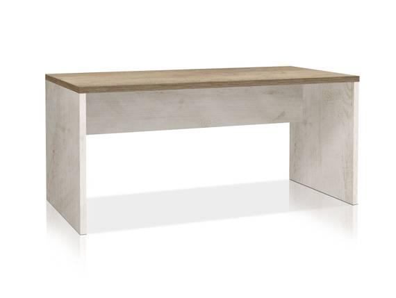 DAGUR Schreibtisch, Material Dekorspanplatte, weiss piniefarbig/eichefabig Antik 160 cm DETAIL_IMAGE